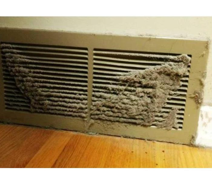 Dirty hot air vent in home
