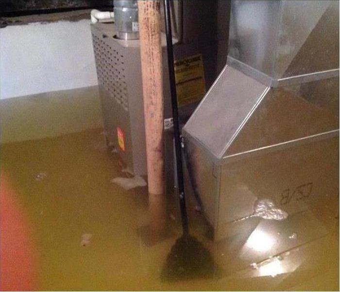An Eaton County customer's basement was a couple feet under water